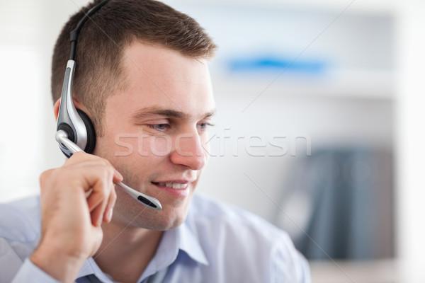 Młodych call center agent mówić pracy Zdjęcia stock © wavebreak_media
