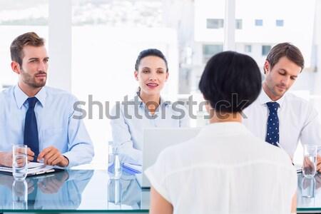 серьезный бизнесмен говорить коллеги за белый Сток-фото © wavebreak_media