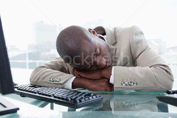 Imprenditore dormire desk ufficio business uomo Foto d'archivio © wavebreak_media