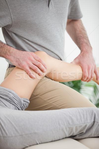 脚 患者 医師 ルーム 医療 健康 ストックフォト © wavebreak_media