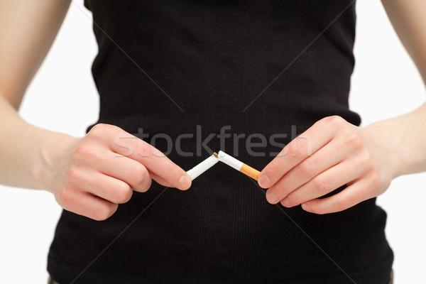 рук сигарету белый курение женщины Сток-фото © wavebreak_media