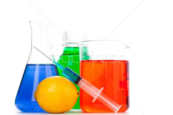 シリンジ オレンジ 白 フルーツ ガラス 緑 ストックフォト © wavebreak_media
