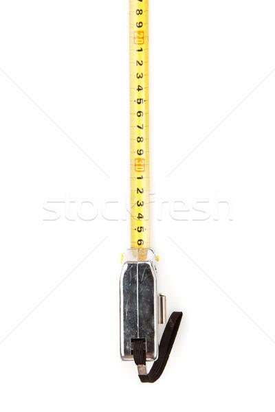 Jaune mètre à ruban outil fond blanc mesure Photo stock © wavebreak_media