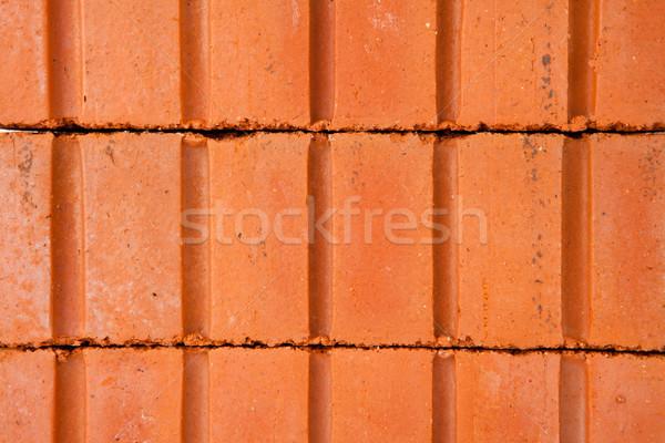 Boglya piros agyag téglák fal épület Stock fotó © wavebreak_media