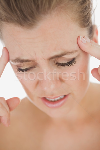 Unhappy woman with severe headache Stock photo © wavebreak_media