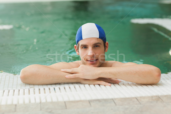 Smiling man in the pool Stock photo © wavebreak_media