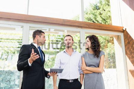 Coppia riunione finanziaria home Foto d'archivio © wavebreak_media