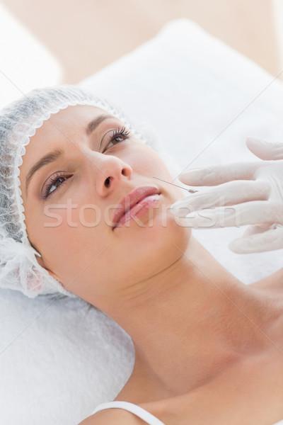 Bela mulher injeção de botox belo mulher jovem hospital escritório Foto stock © wavebreak_media
