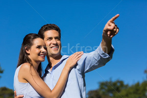 Couple looking away against clear blue sky Stock photo © wavebreak_media