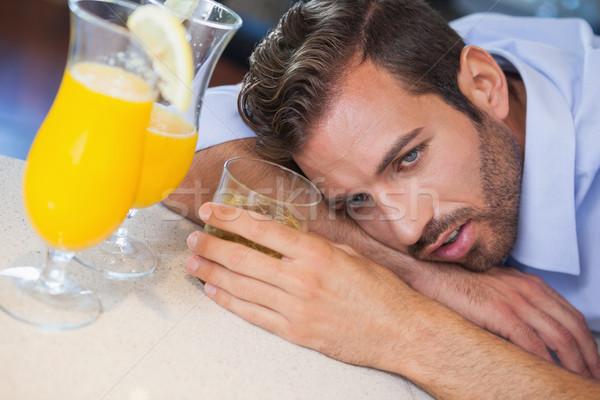 Bu affaires bar cocktail locale Photo stock © wavebreak_media