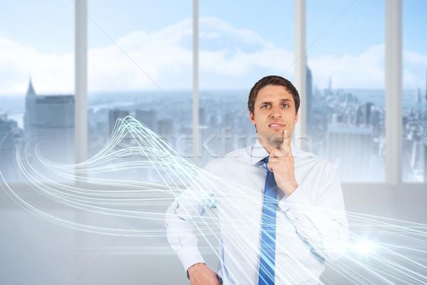 Confundirse empresario compuesto digital hombre digital camisa Foto stock © wavebreak_media