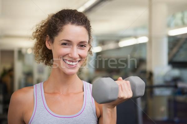 соответствовать женщина улыбается камеры спортзал Сток-фото © wavebreak_media