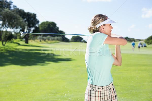 Signora golfista giorno campo da golf Foto d'archivio © wavebreak_media