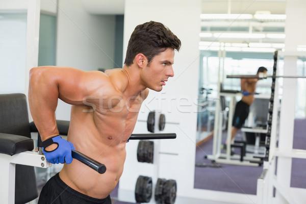 Determinato muscolare uomo crossfit fitness allenamento Foto d'archivio © wavebreak_media