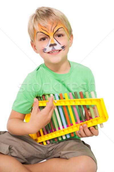 幸せ 少年 虎 顔 塗料 ストックフォト © wavebreak_media