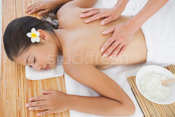 Bella bruna massaggio felice Foto d'archivio © wavebreak_media