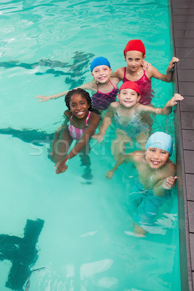 Sevimli küçük çocuklar yüzme havuzu boş Stok fotoğraf © wavebreak_media