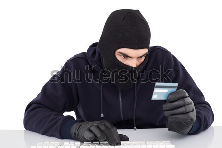 泥棒 デビットカード 白 コンピュータ ストックフォト © wavebreak_media