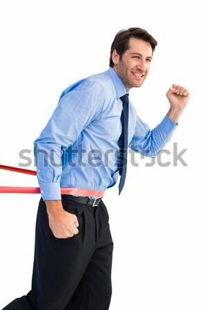 Mutlu işadamı hat beyaz iş Stok fotoğraf © wavebreak_media