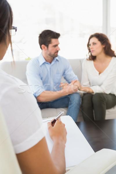 Couple talking with their psychologist Stock photo © wavebreak_media