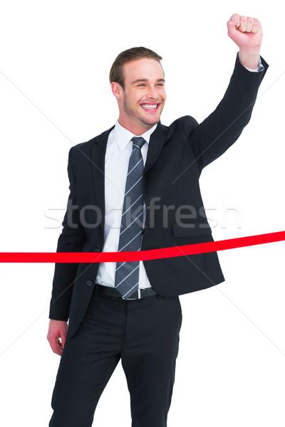 Feliz empresario puno traje empresarial Foto stock © wavebreak_media