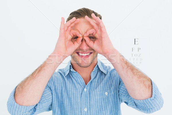 Sorridente médico óculos mãos branco masculino Foto stock © wavebreak_media