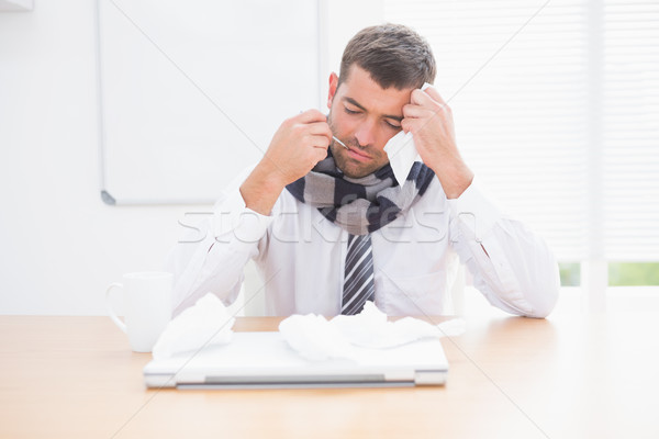 Stressed businessman looking down Stock photo © wavebreak_media