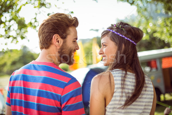 Couple souriant autre festival de musique homme Photo stock © wavebreak_media
