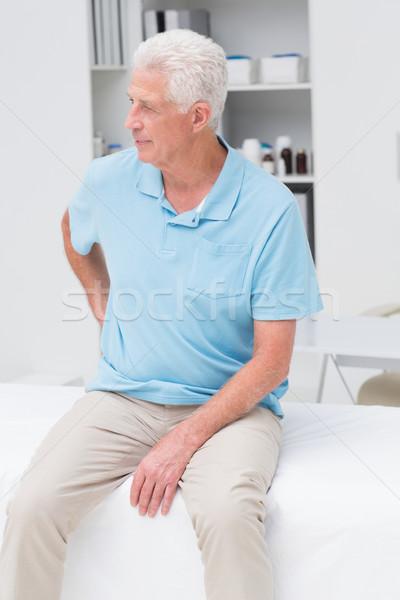 Hombre sufrimiento dolor de espalda clínica altos sesión Foto stock © wavebreak_media