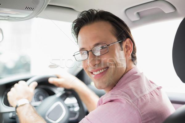 Man smiling while driving Stock photo © wavebreak_media