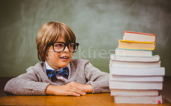 少年 スタック 図書 教室 肖像 かわいい ストックフォト © wavebreak_media