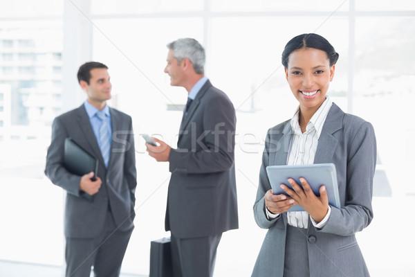 деловая женщина таблетка коллеги за служба портрет Сток-фото © wavebreak_media