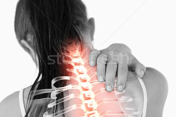 Gerincoszlop nő nyaki fájdalom digitális kompozit egészség piros Stock fotó © wavebreak_media