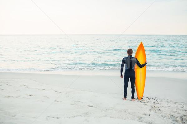 человека доска для серфинга пляж спорт морем Сток-фото © wavebreak_media