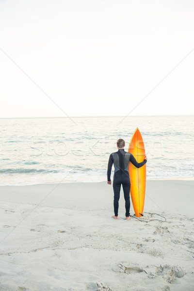 Homem prancha de surfe praia esportes mar Foto stock © wavebreak_media