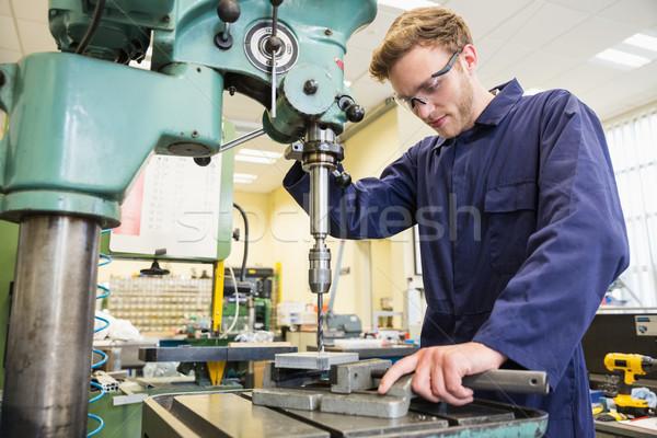 Foto stock: Engenharia · estudante · grande · três · de · um · tipo · universidade · escolas