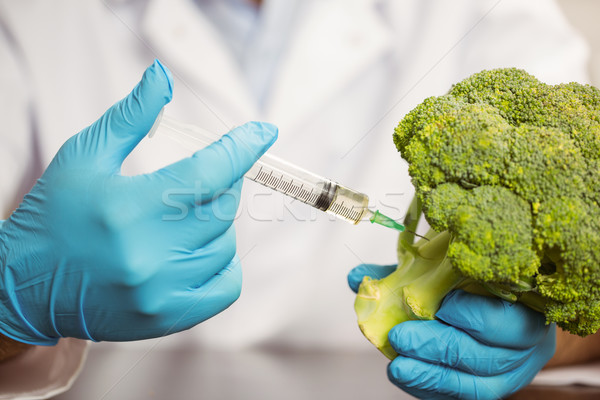 żywności naukowiec głowie brokuły uczelni szkoły Zdjęcia stock © wavebreak_media