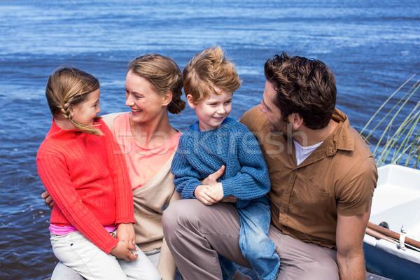 Happy parents with their children Stock photo © wavebreak_media