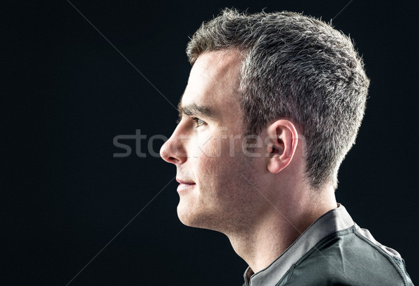 Rugby player on a profile view Stock photo © wavebreak_media