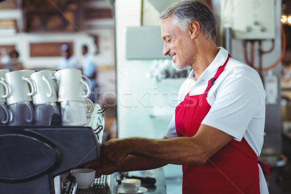 Gelukkig barista cafe business vrouw Stockfoto © wavebreak_media