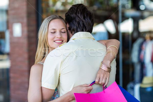 Uśmiechnięta kobieta chłopak człowiek Zdjęcia stock © wavebreak_media