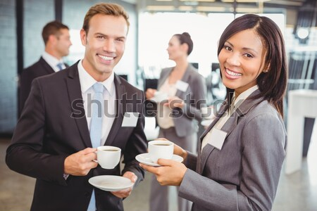 Discussie portret thee pauze tijd Stockfoto © wavebreak_media