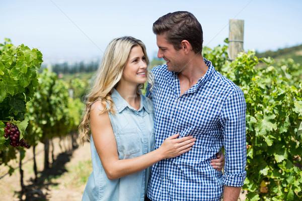 Feliz casal olhando outro vinha Foto stock © wavebreak_media