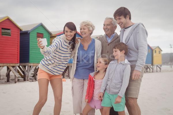 Cheerful multi-generation family taking selfie Stock photo © wavebreak_media