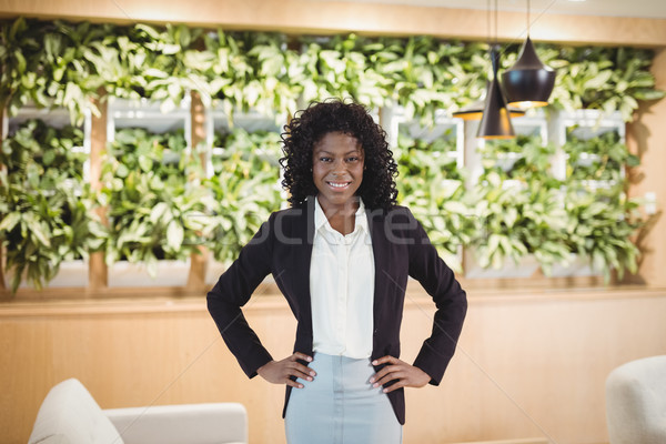 Portrait of smiling executive standing with hands on hip Stock photo © wavebreak_media
