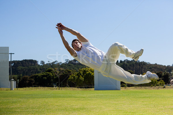 игрок дайвинг мяча Blue Sky Сток-фото © wavebreak_media