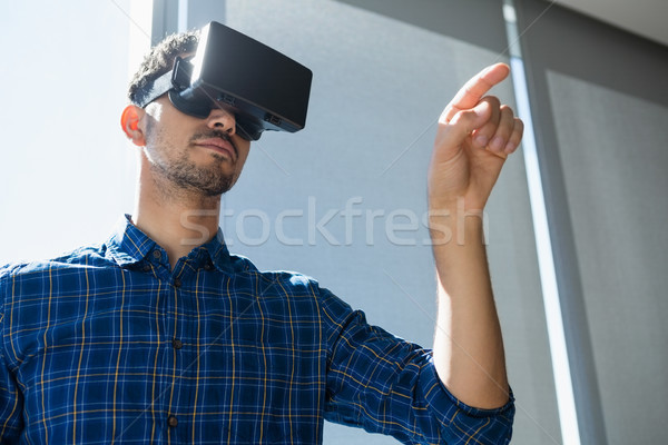 Executive using virtual reality headset Stock photo © wavebreak_media