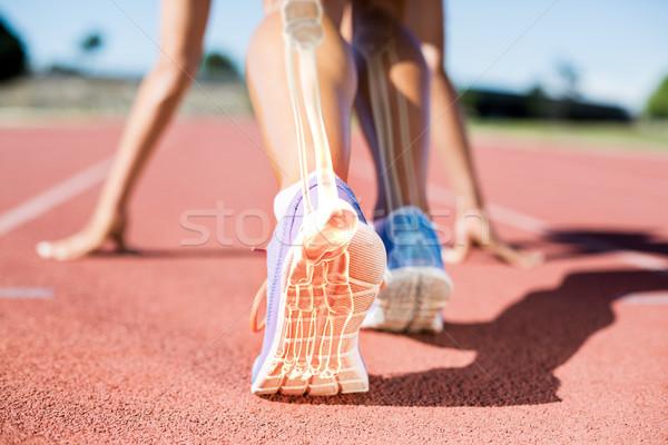 Huesos hombre carrera compuesto digital mujer fitness Foto stock © wavebreak_media
