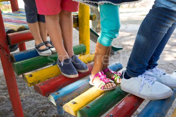 низкий друзей ходьбе джунгли спортзал Сток-фото © wavebreak_media