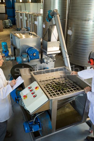 Lavoratori produzione line olio fabbrica Foto d'archivio © wavebreak_media